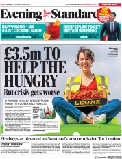 London Evening Standard (UK) Newspaper Front Page for 6 May 2020