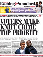 London Evening Standard front page for 6 May 2021