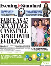 London Evening Standard (UK) Newspaper Front Page for 6 June 2018