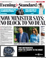 London Evening Standard (UK) Newspaper Front Page for 6 August 2019