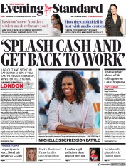 London Evening Standard front page for 6 August 2020