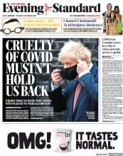 London Evening Standard front page for 7 October 2020