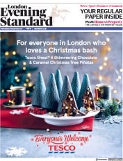 London Evening Standard (UK) Newspaper Front Page for 7 December 2017