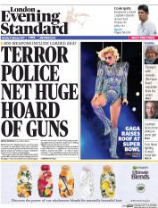 London Evening Standard (UK) Newspaper Front Page for 7 February 2017