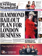London Evening Standard (UK) Newspaper Front Page for 7 March 2017