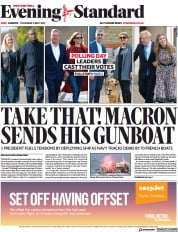 London Evening Standard front page for 7 May 2021