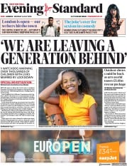 London Evening Standard front page for 7 July 2020
