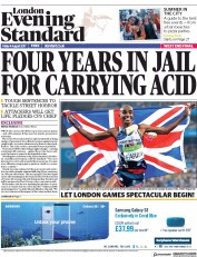 London Evening Standard (UK) Newspaper Front Page for 7 August 2017