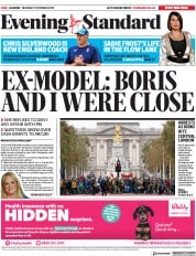 London Evening Standard () Newspaper Front Page for 8 October 2019