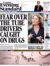 London Evening Standard (UK) Newspaper Front Page for 8 February 2016