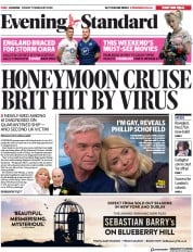 London Evening Standard (UK) Newspaper Front Page for 8 February 2020