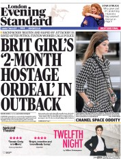 London Evening Standard (UK) Newspaper Front Page for 8 March 2017