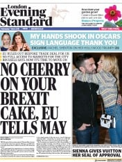 London Evening Standard (UK) Newspaper Front Page for 8 March 2018
