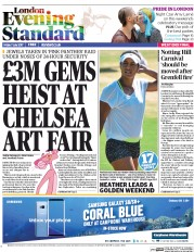 London Evening Standard (UK) Newspaper Front Page for 8 July 2017