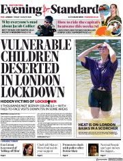 London Evening Standard front page for 8 August 2020