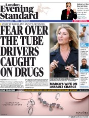 London Evening Standard (UK) Newspaper Front Page for 9 February 2016