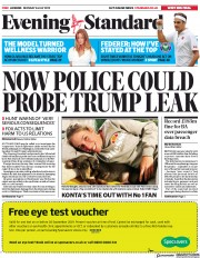 London Evening Standard (UK) Newspaper Front Page for 9 July 2019