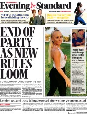 London Evening Standard front page for 9 September 2020