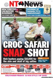 NT News (Australia) Newspaper Front Page for 10 February 2012