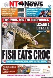 NT News (Australia) Newspaper Front Page for 12 April 2012