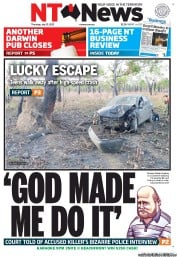 NT News Newspaper Front Page (Australia) for 12 July 2012