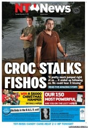 NT News (Australia) Newspaper Front Page for 13 December 2011