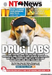 NT News (Australia) Newspaper Front Page for 18 June 2013