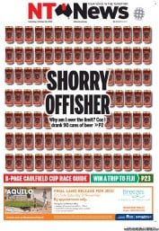 NT News (Australia) Newspaper Front Page for 19 October 2013