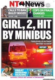 NT News (Australia) Newspaper Front Page for 28 April 2012