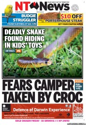 NT News (Australia) Newspaper Front Page for 2 March 2012