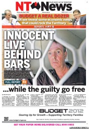 NT News (Australia) Newspaper Front Page for 2 May 2012