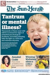 Sun Herald (Australia) Newspaper Front Page for 10 June 2012