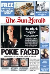 Sun Herald (Australia) Newspaper Front Page for 22 January 2012