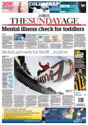 Sunday Age (Australia) Newspaper Front Page for 10 June 2012