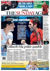 Sunday Age (Australia) Newspaper Front Page for 22 January 2012
