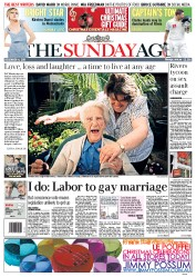 Sunday Age (Australia) Newspaper Front Page for 4 December 2011