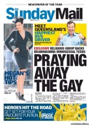 Sunday Mail (Australia) Newspaper Front Page for 10 June 2012