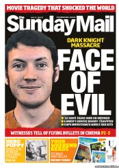 Sunday Mail Newspaper Front Page (Australia) for 22 July 2012