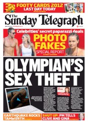 Sunday Telegraph (Australia) Newspaper Front Page for 10 June 2012
