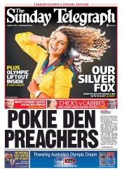 Sunday Telegraph Newspaper Front Page (Australia) for 5 August 2012