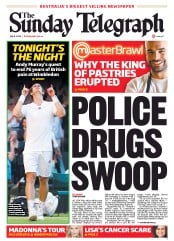 Sunday Telegraph Newspaper Front Page (Australia) for 8 July 2012