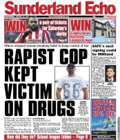 Sunderland Echo (UK) Newspaper Front Page for 12 January 2011