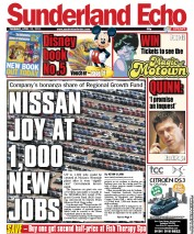 Sunderland Echo (UK) Newspaper Front Page for 12 April 2011