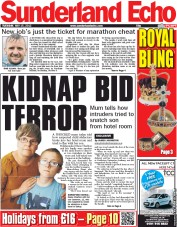 Sunderland Echo () Newspaper Front Page for 15 May 2012
