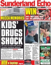 Sunderland Echo Newspaper Front Page (UK) for 4 May 2012