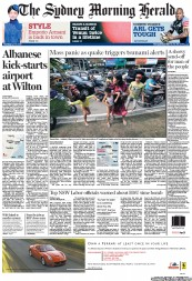 Sydney Morning Herald (Australia) Newspaper Front Page for 12 April 2012