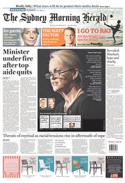 Sydney Morning Herald Newspaper Front Page (Australia) for 15 February 2014