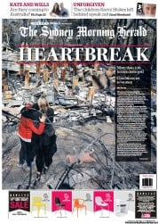 Sydney Morning Herald (Australia) Newspaper Front Page for 19 October 2013