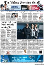 Sydney Morning Herald Newspaper Front Page (Australia) for 25 June 2012