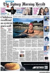 Sydney Morning Herald (Australia) Newspaper Front Page for 28 April 2012